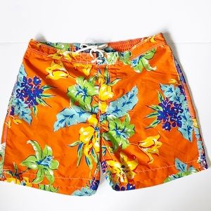 Polo by Ralph Lauren Orange Tropical Board Shorts